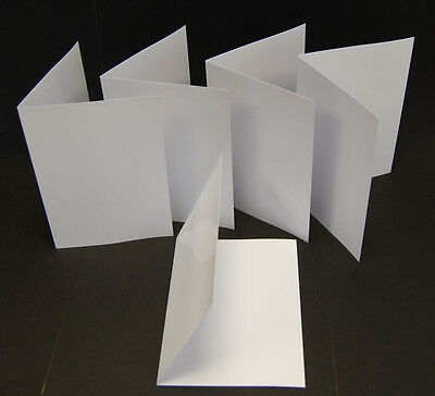 50 Blank Greeting Cards Inkjet Printable 240gsm Photo Gloss A4 Folding to A5