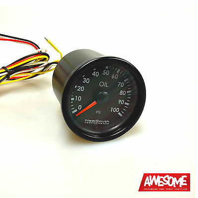 NEWSOUTH INDIGO 100PSI 52MM OIL PRESSURE GAUGE VW GOLF Mk4 Mk5 GAU010