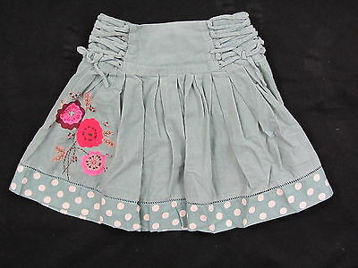 MONSOON FINE CORD FLORAL DETAIL SKIRT RED OR GREEN age 4-6 6-8 8-10 & 10-12