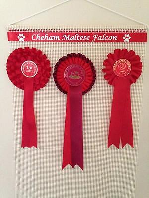 PERSONALISED DOG AGILITY / SHOW Rosette Wall Hanger/Display/Holder  FREE POST