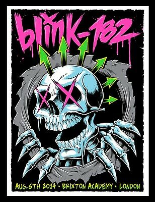 Blink 182 Brixton UK 2014 Poster Signed & Numbered #/50 Artist Edition Rare!!
