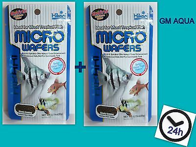 2 x HIKARI TROPICAL MICRO WAFERS 45g CICHLID CATFISH MINI WAFER FISH TANK FOOD