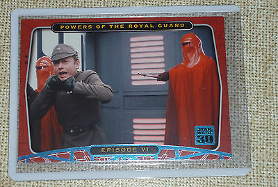 Star Wars 30th Anniversary Blue foil parallel 114