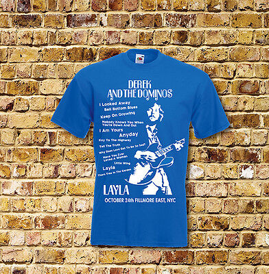 Derek and the Dominoes Layla Gig T Shirt New Black or Blue