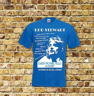 Rod Stewart Every Picture Tells a Story Gig T Shirt New Black or Blue