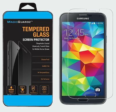 100x Wholesale Lot of 100 Tempered Glass Screen Protector for Samsung Galaxy S5