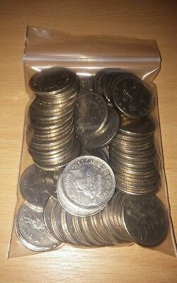 Five English Pounds (£5) in Ten Pence (10p) Coins British Pound England Britain
