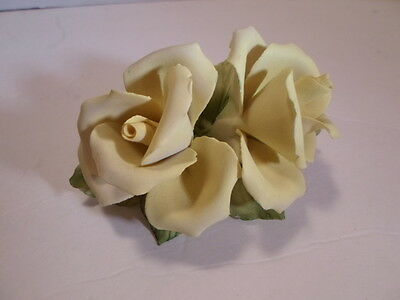 Capodimonte Porcelain DB Yellow Rose Flower Italy~Gifts for Easter/Mother'sDay!!