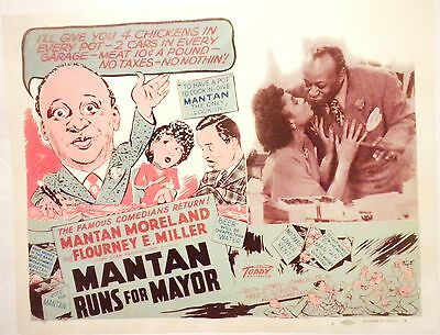 Mantan Runs For Mayor All Colored Cast Lobby Card(Toddy Pictures)