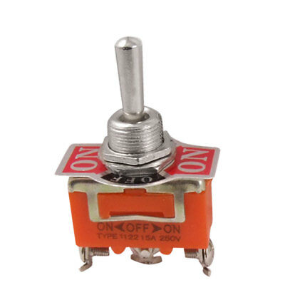 AC 250V 15A SPST On/Center Off/On 3 Way Toggle Switch w Screw Terminals