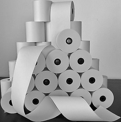 "2-3/4"" x 194' BOND PoS RECEIPT PAPER - 50 NEW ROLLS  ** FREE SHIPPING **"