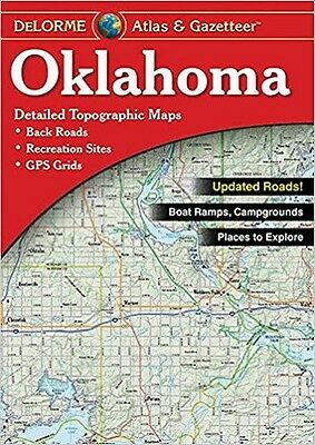 NEW Delorme Oklahoma OK Atlas and Gazetteer Topo Road Map Topographic Maps