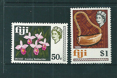 Fiji 1970 Glazed Paper definitive set of 2 (SG405a-6a) unmounted mint