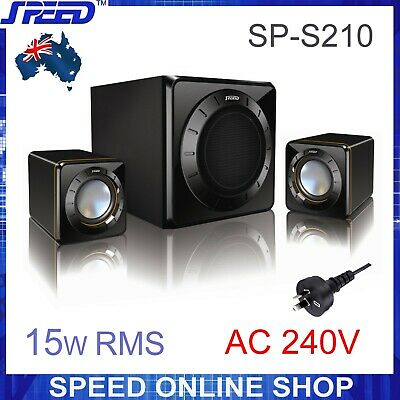 SPEED SP-S210 2.1 Multimedia Speakers (240V) for PC, Tablet, iPod/iPhone/iPad...