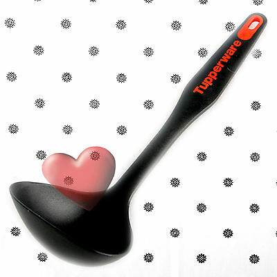 NEW Tupperware Ladle Kitchen Preparation KP Black and Red