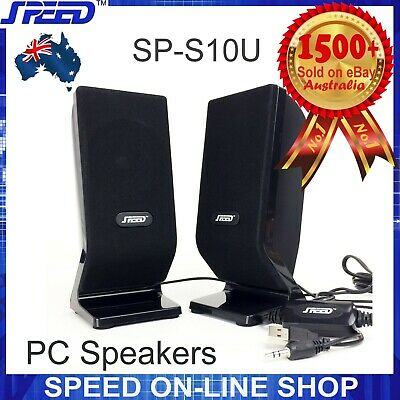 SPEED SP-S10U 2.0 6W USB Multimedia PC Speakers for Desktop Laptop Computers