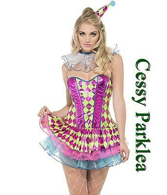 Sexy Party Clown Costume Circus Carnival Fancy Dress Birthday Party Outfit