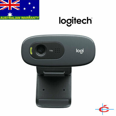 LOGITECH C270 Webcam 720p HD Video 3MP Camera Skype Built-in Mic USB Laptop PC