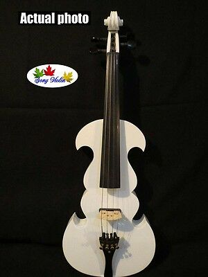 Best SONG Brand streamline 4/4  electric violin,Plywood back and top #7515