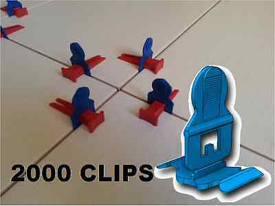 2000 Clips Croisillons Auto Nivelant Pour Sys. Perfect Level Carrelage Carreleur