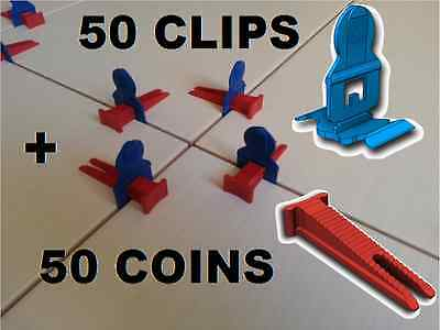 50 Clips / 50 Coins Croisillons Auto Nivelant Perfect Level Carrelage Carreleur