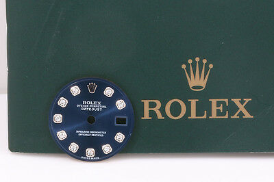 Rolex Ladies Blue Diamond Datejust Dial for 179160 & 179174 Models INV # FCD1714