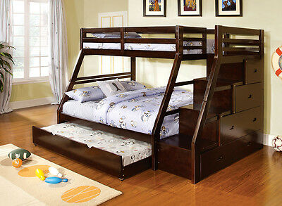 Ellington Twin over Full Bunk Bed with Twin Trundle and build in drawers