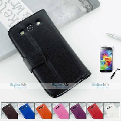 Premium Leather Wallet Flip Case Cover For Samsung Galaxy S3