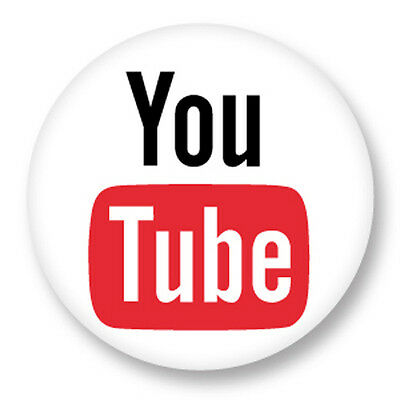 "Pin Button Badge Ø25mm 1"" Réseaux Sociaux Web 2.0 The Social Network You Tube"