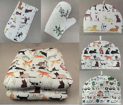 Fred Cotton Kitchen Oven Glove Tea Cosy Gauntlet Or Cushion Seat Pads