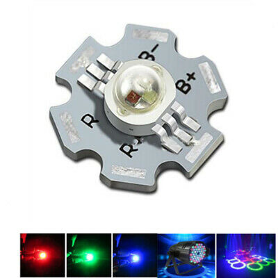 50pcs x 3W 6pin RGB Color High Power LED Chip Light with 20mm star base for DIY