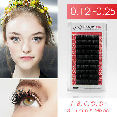 Mia Synthetic Silk Lash Individual Eyelash Extension Semi Permanent Matte Dark