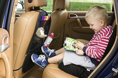Car Back Seat Organizer Multi Pocket Storage Baby Travel ( NAVY BLUE  )