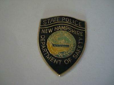 NEW HAMPSHIRE State  Police mini patch HAT PIN