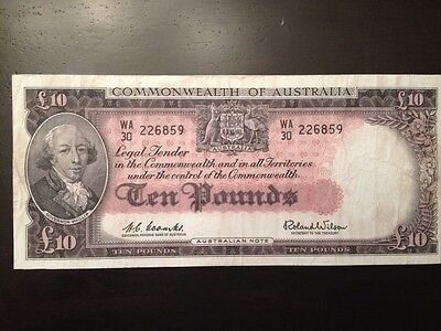 Reproduction Commonwealth Of Australia 10 Pounds 1960 £10 Ten