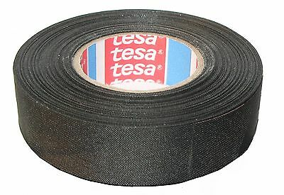 TESA 51025 19mm x 25m, 1-pack of Adhesive Cloth Fabric Tape for wiring harnesses