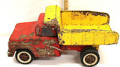 Vintage 1960s Tonka Dump Truck Red & Yellow Pressed Steel Made In USA Mound Minn