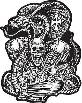Lethal Threat Adesivo Sticker Moto Scooter Vespa Cellulare Casco Harley RC00126