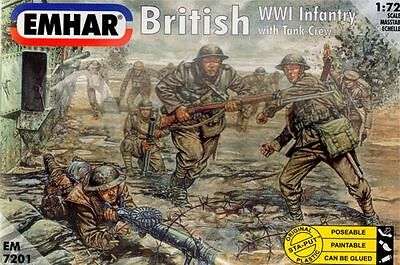 Emhar 1:72 scale British WWI Infantry with Tank Crew