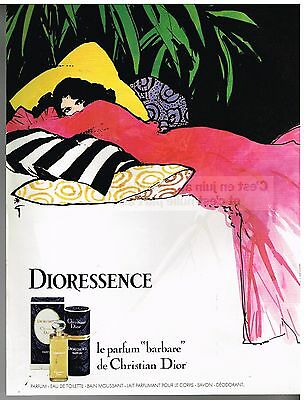 Publicité Advertising 1980 parfum Dioresssence Christian Dior