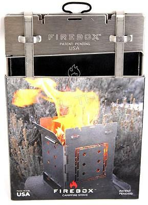 """FIREBOX CAMPFIRE 5"""" Stainless Steel Folding Wood Stove Backpacking / Camping USA"""