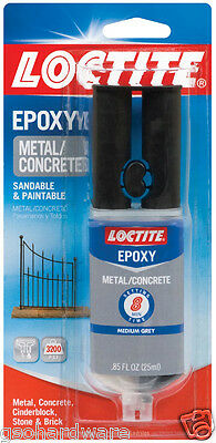 Loctite Metal and Concrete Epoxy .85 fl. Oz. Quick Set #1919325 NEW