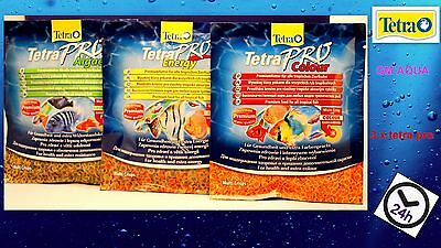 TETRA PRO ENERGY 12g +COLOUR 12g +ALGAE 12g *