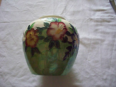 Vintage Mayling Hand painted Thumbprint Vase