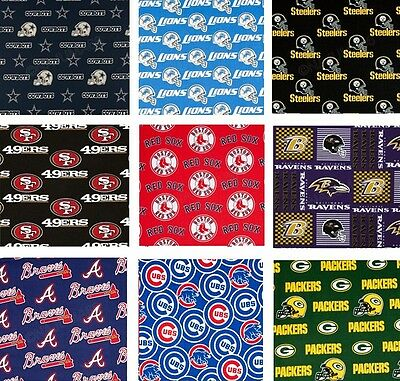 New! Sports Teams NCAA Nascar NFL NBA MLB Cotton Fabric - Assorted Styles