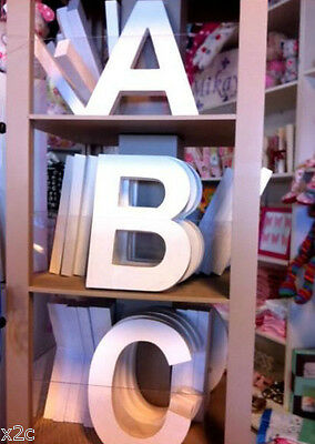 Ready Made White Wooden Letters Large Wedding Home Decor Shops Birthday 20cm NEW