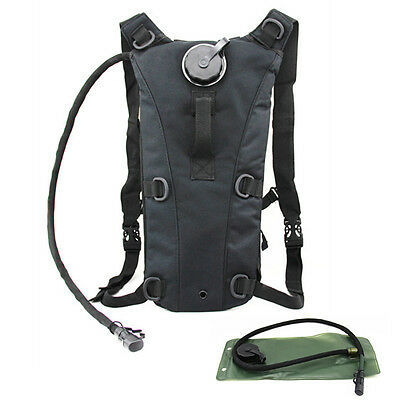 Black Cycling Climbing Hiking Hydration System Water Bag Backpack With Bladder