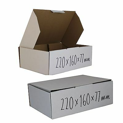 100 220x160x77mm BX1 Cardboard Boxes mailing Carton 3Kg Shipping Postage Boxs