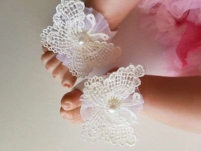 Adorable Baby Butterfly Barefoot Sandals / Shoes  *new*