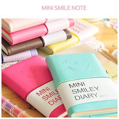 Cute Charming Mini Portable Smile Smiley Paper Diary Notebook Memo Note Book